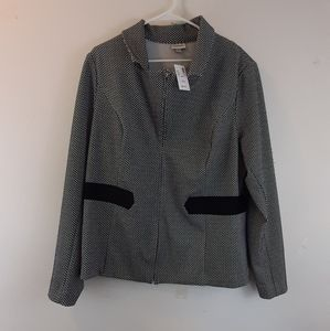 NWT Avenue business casual black and white jacket